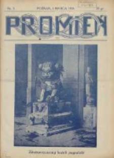 Promień: ilustrowany dwutygodnik dla wszystkich 1928.03.01 R.4 Nr5
