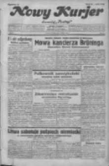 """Nowy Kurjer: dawniej """"Postęp"""" 1932.02.11 R.43 Nr33"""