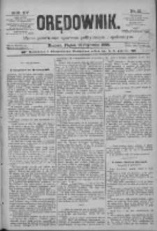 Orędownik: pismo poświęcone sprawom politycznym i spółecznym 1885.01.16 R.15 Nr12