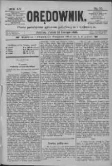 Orędownik: pismo poświęcone sprawom politycznym i spółecznym 1885.02.13 R.15 Nr35