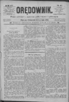 Orędownik: pismo poświęcone sprawom politycznym i spółecznym 1885.02.19 R.15 Nr40