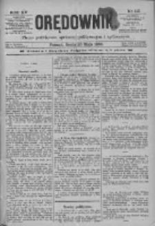 Orędownik: pismo poświęcone sprawom politycznym i spółecznym 1885.05.20 R.15 Nr113