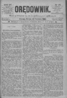 Orędownik: pismo poświęcone sprawom politycznym i spółecznym 1885.06.20 R.15 Nr138