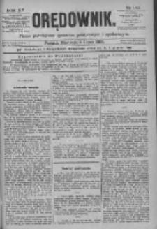 Orędownik: pismo poświęcone sprawom politycznym i spółecznym 1885.07.05 R.15 Nr150