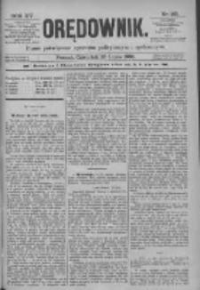 Orędownik: pismo poświęcone sprawom politycznym i spółecznym 1885.07.23 R.15 Nr165