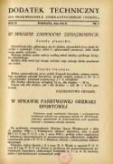 """Dodatek Techniczny do Przewodnika Gimnastycznego """"Sokół"""" 1933.05 R.9 Nr5"""