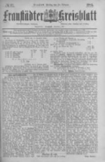 Fraustädter Kreisblatt. 1885.02.13 Nr13