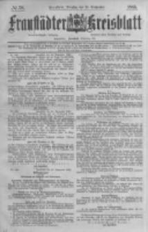 Fraustädter Kreisblatt. 1885.09.29 Nr78