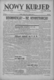 Nowy Kurjer: dziennik poświęcony sprawom politycznym i społecznym 1937.01.23 R.48 Nr18