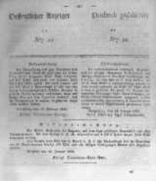 Oeffentlicher Anzeiger zum Amtsblatt No.10 der Königl. Preuss. Regierung zu Bromberg. 1839