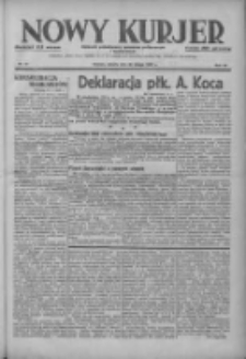 Nowy Kurjer: dziennik poświęcony sprawom politycznym i społecznym 1937.02.20 R.48 Nr41