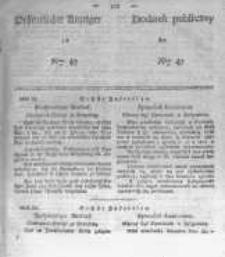 Oeffentlicher Anzeiger zum Amtsblatt No.47 der Königl. Preuss. Regierung zu Bromberg. 1839