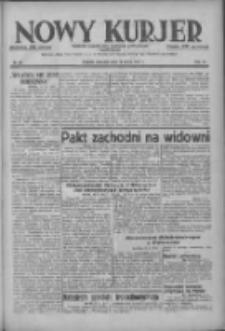 Nowy Kurjer: dziennik poświęcony sprawom politycznym i społecznym 1937.03.14 R.48 Nr60