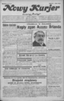 """Nowy Kurjer: dawniej """"Postęp"""" 1932.03.09 R.43 Nr56"""