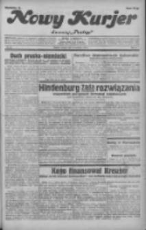 """Nowy Kurjer: dawniej """"Postęp"""" 1932.04.19 R.43 Nr90"""