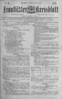 Fraustädter Kreisblatt. 1887.07.12 Nr53