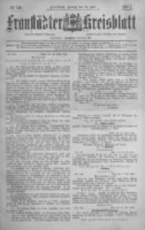 Fraustädter Kreisblatt. 1887.07.15 Nr54
