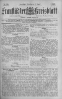 Fraustädter Kreisblatt. 1887.08.02 Nr59
