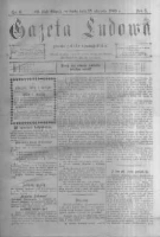 Gazeta Ludowa: pismo polsko-ewangielickie. 1900.01.25 R.5 nr6