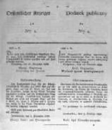 Oeffentlicher Anzeiger zum Amtsblatt No.1 der Königl. Preuss. Regierung zu Bromberg. 1839
