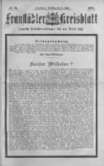 Fraustädter Kreisblatt. 1888.03.13 Nr21