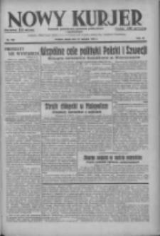 Nowy Kurjer: dziennik poświęcony sprawom politycznym i społecznym 1937.08.27 R.48 Nr196