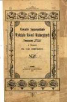"""Czwarte Sprawozdanie Wydziału Kolonii Wakacyjnych """"Stella"""" w Poznaniu za rok 1899/1900"""