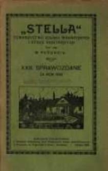 """""""Stella"""" Towarzystwo Kolonii Wakacyjnych i Stacji Sanitarnych tow. zap. w Poznaniu XXIII Sprawozdanie za rok 1918"""