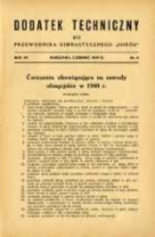 """Dodatek Techniczny do Przewodnika Gimnastycznego """"Sokół"""" 1939.06 R.15 Nr6"""