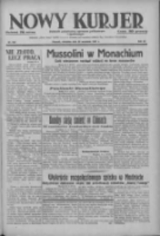 Nowy Kurjer: dziennik poświęcony sprawom politycznym i społecznym 1937.09.26 R.48 Nr222