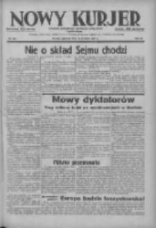 Nowy Kurjer: dziennik poświęcony sprawom politycznym i społecznym 1937.09.30 R.48 Nr225