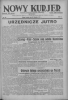 Nowy Kurjer: dziennik poświęcony sprawom politycznym i społecznym 1937.11.20 R.48 Nr267