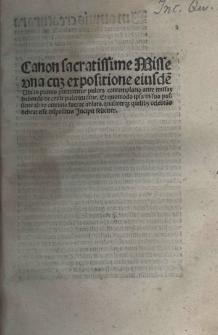 Expositio canonis missae
