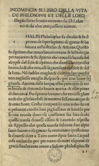 Vitae et sententiae philosophorum, Ital.