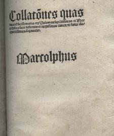 Dialogus Salomonis et Marcolphi