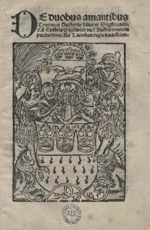 De duobus amantibus, sive De amore Guiscardi et Sigismundae