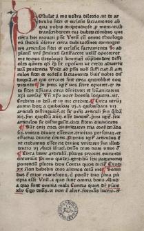 De articulis fidei et ecclesiae sacramentis