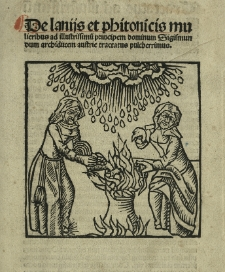 De lamiis et phitonicis mulieribus
