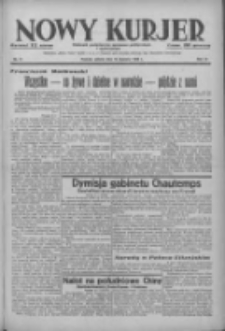 Nowy Kurjer: dziennik poświęcony sprawom politycznym i społecznym 1938.01.15 R.49 Nr11
