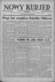 Nowy Kurjer: dziennik poświęcony sprawom politycznym i społecznym 1938.02.04 R.49 Nr27
