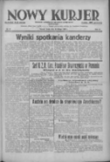 Nowy Kurjer: dziennik poświęcony sprawom politycznym i społecznym 1938.02.16 R.49 Nr37