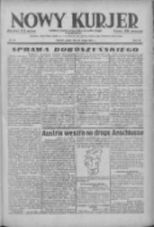 Nowy Kurjer: dziennik poświęcony sprawom politycznym i społecznym 1938.02.18 R.49 Nr39