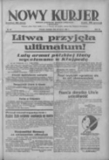 Nowy Kurjer: dziennik poświęcony sprawom politycznym i społecznym 1938.03.20 R.49 Nr65