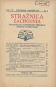 Strażnica Zachodnia: kwartalnik poświęcony sprawom Kresów Zachodnich 1929 październik/grudzień R.8 Nr4