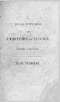 Essai critique sur l'histoire de la Livonie suivi d'un tableau de l'état actuel de cette province par L.C.D.B. T.2