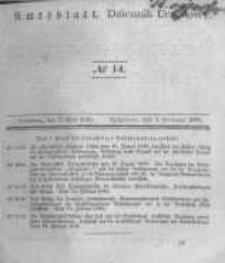Amtsblatt der Königlichen Preussischen Regierung zu Bromberg. 1840.04.03 No.14