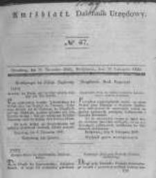Amtsblatt der Königlichen Preussischen Regierung zu Bromberg. 1840.11.20 No.47