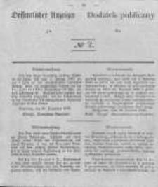 Oeffentlicher Anzeiger zum Amtsblatt No.2 der Königl. Preuss. Regierung zu Bromberg. 1840