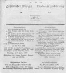 Oeffentlicher Anzeiger zum Amtsblatt No.3 der Königl. Preuss. Regierung zu Bromberg. 1840