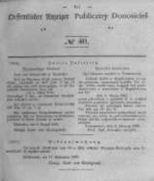 Oeffentlicher Anzeiger zum Amtsblatt No.40 der Königl. Preuss. Regierung zu Bromberg. 1840